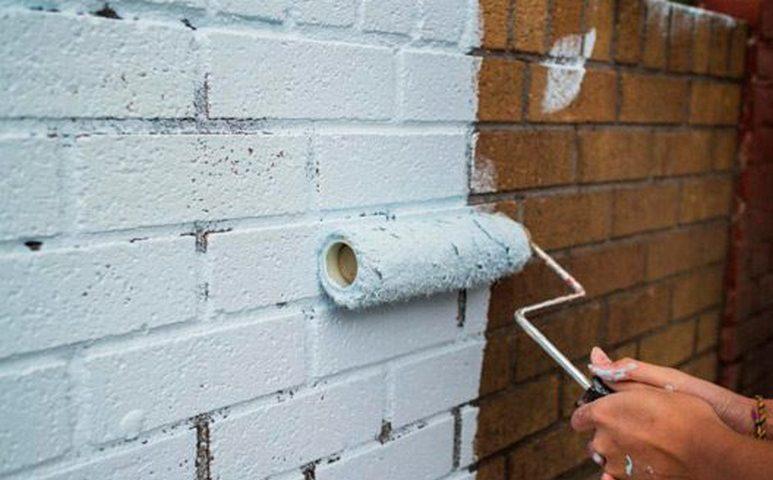Краска для кирпичной стены