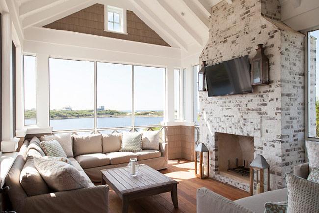 Дизайн гостиной в загородном доме