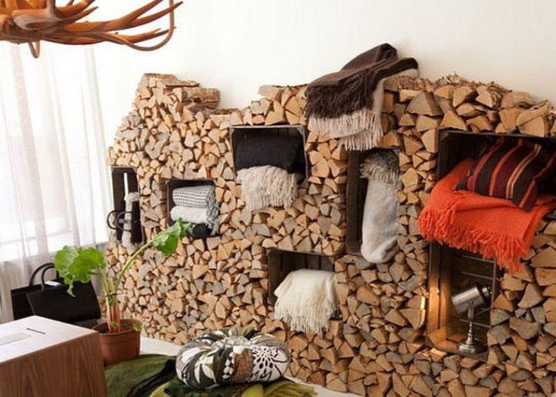 Дрова в декоре интерьера: креативно и стильно!