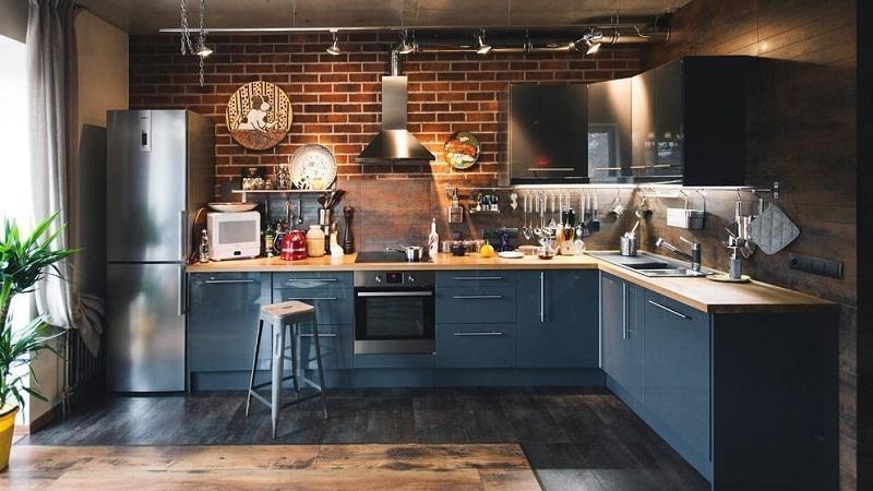 Кухня в стиле лофт — современное решение для больших квартир