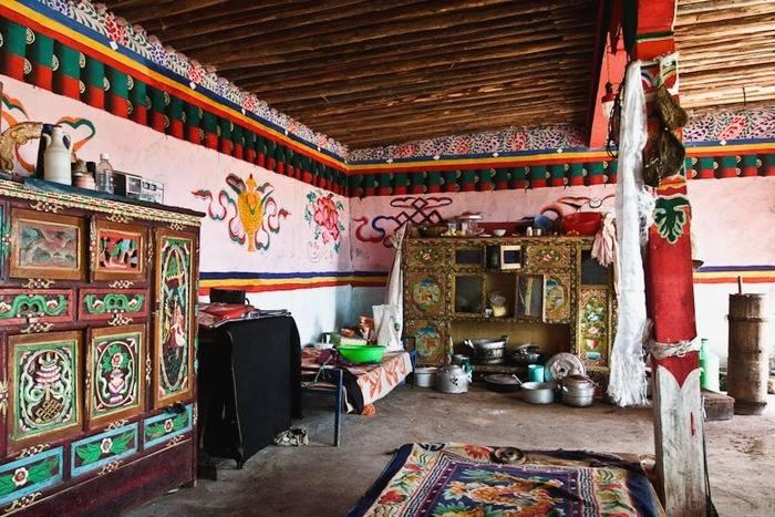 Дизайн интерьера в тибетском стиле