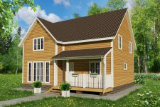 Двухэтажные каркасные дома 9 на 9