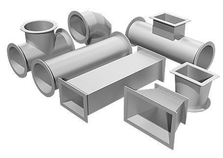 Фасонные элементы для воздуховодов от производителя