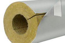 Минераловатные цилиндры с каширной фольгой от завода АМАКС