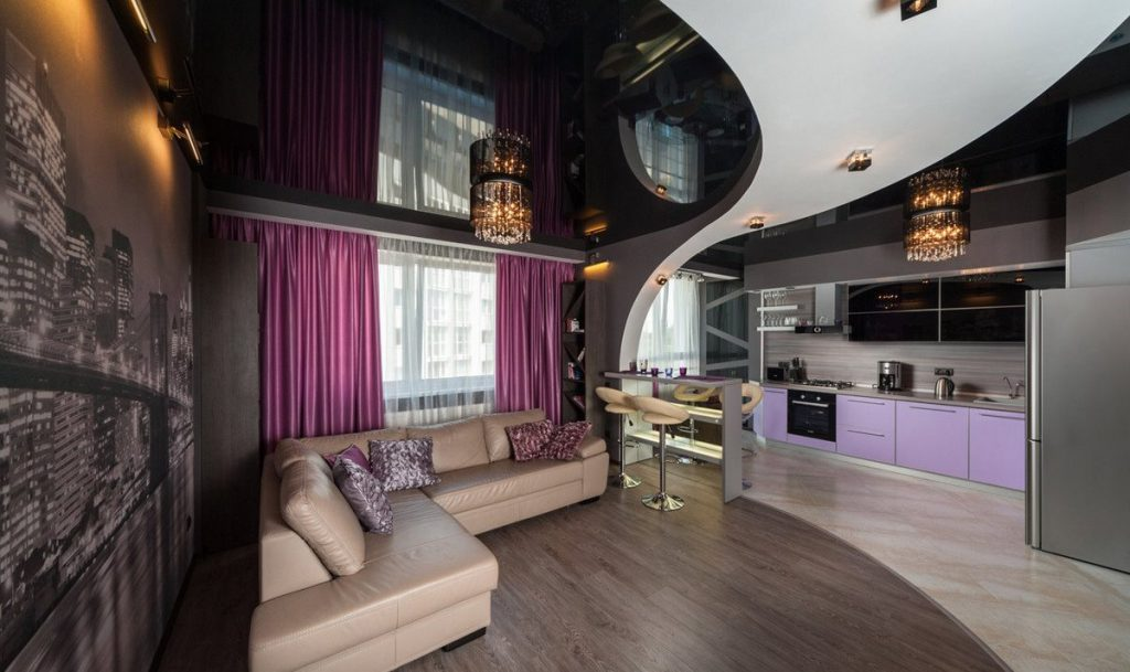 Гламурный стиль в интерьере квартиры