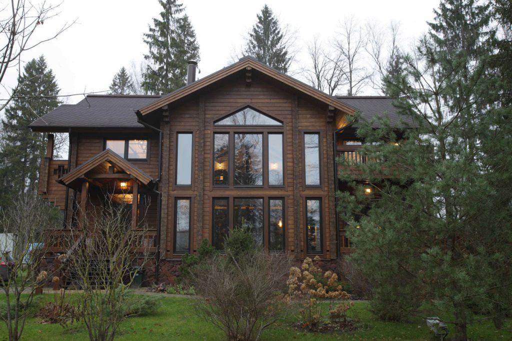 Деревянный дом мечты в стиле кантри