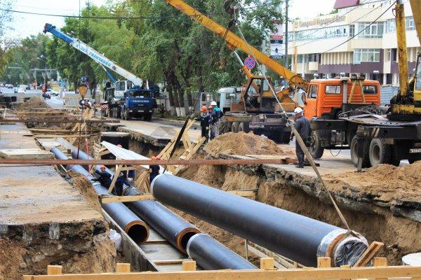 Санация трубопровода методом чулка