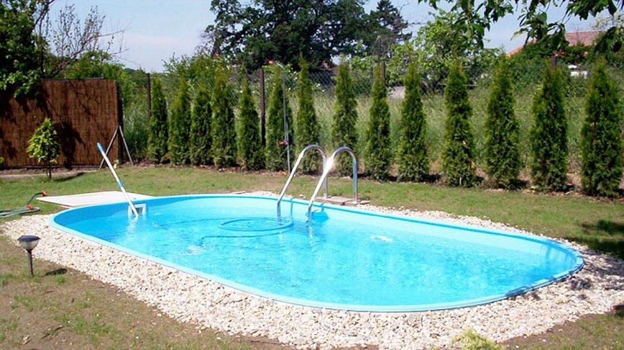 Полипропиленовый бассейн на дачном участке