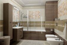Плитка при отделке стен и пола в ванной комнате