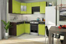 Маленькая угловая кухня – отличное решение для экономии пространства