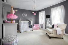 Новая тенденция в декорировании комнат для новорожденных: серый цвет