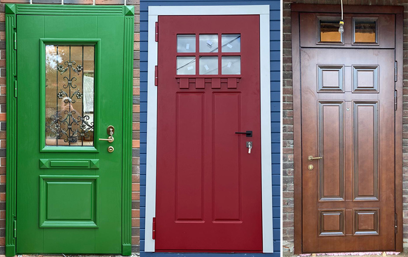 Виды отделок входных дверей