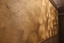 Фактурная штукатурка стен в квартире: технология дизайнерской отделки