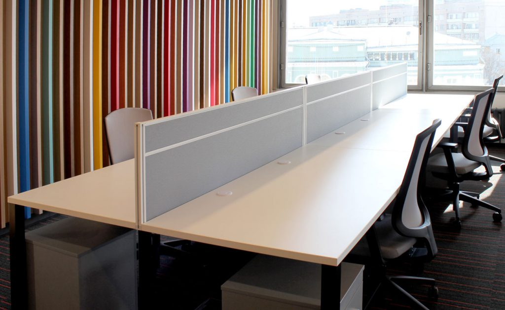 Перегородки и экраны для офиса: виды и материалы