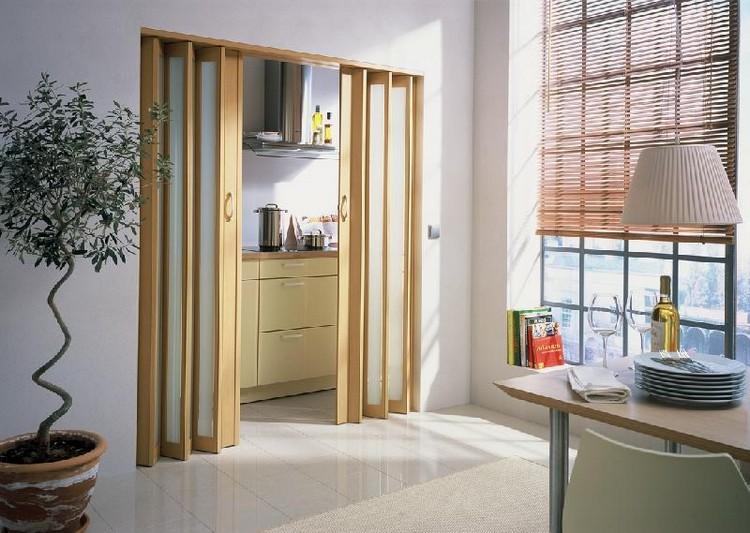 Двери-гармошка в интерьере