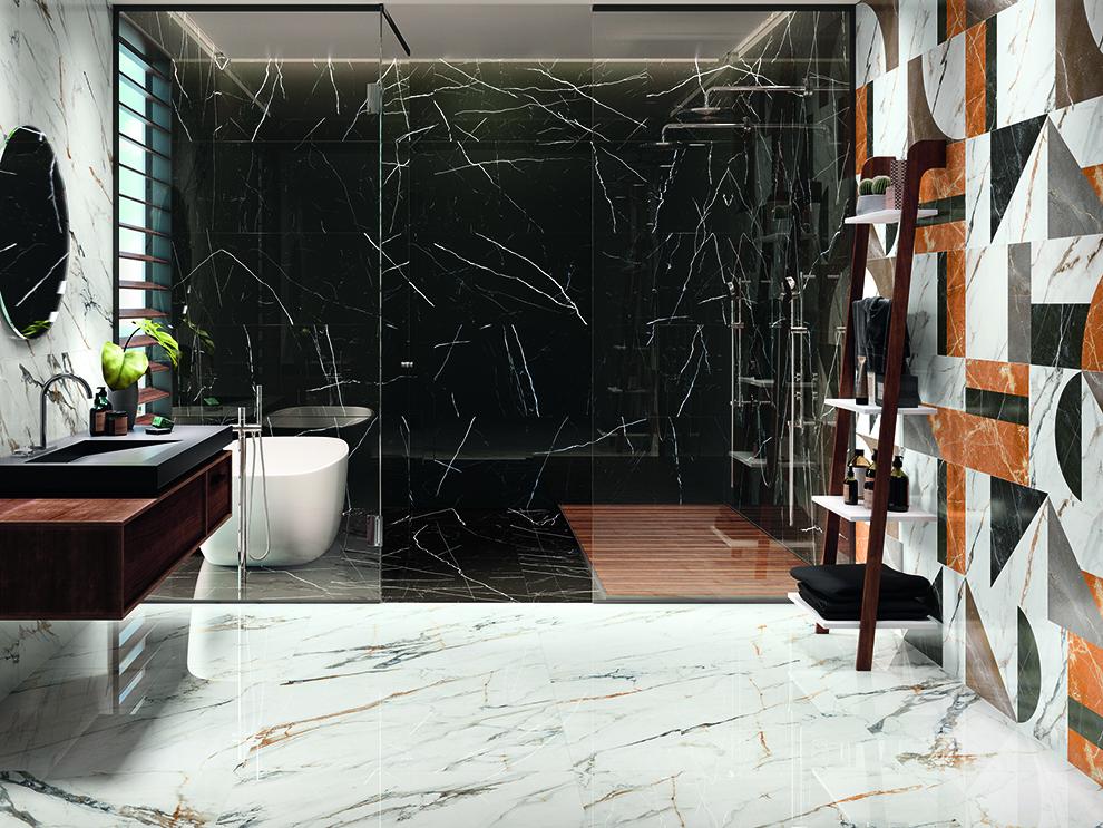 Топ трендов в дизайне керамической плитки для ванных комнат