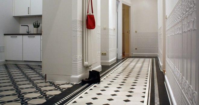 Плитка в коридор — настенная и напольная плитка, идеи и варианты оформления