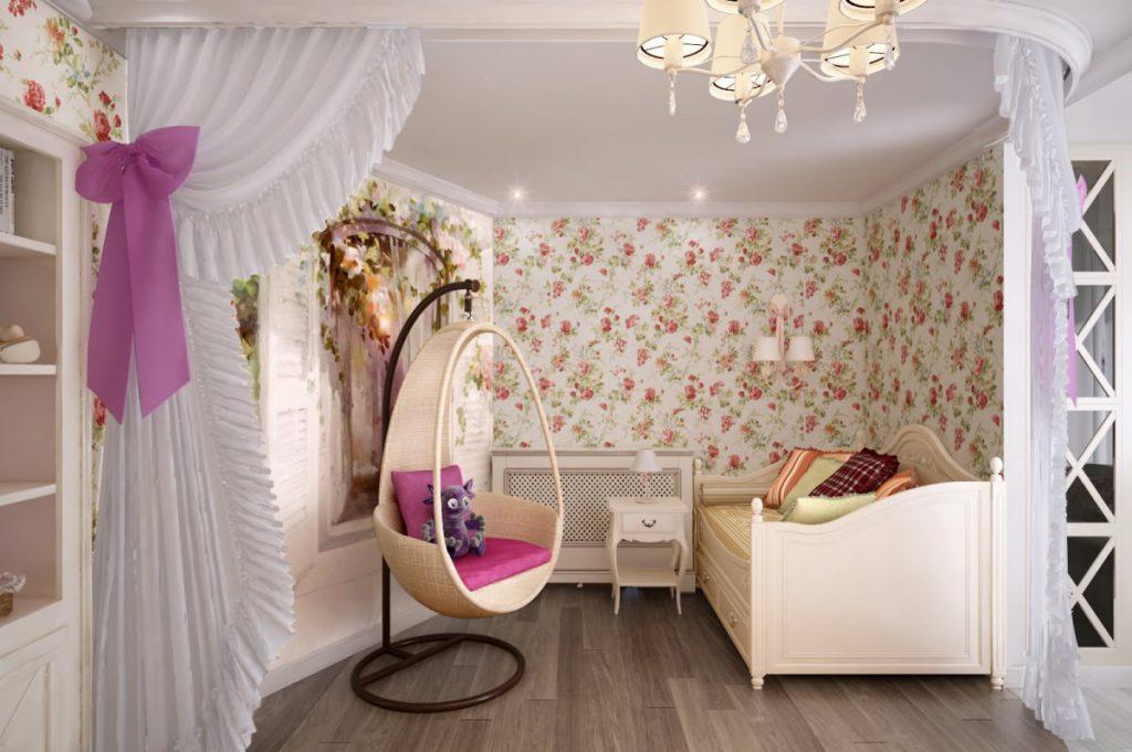 Очаровательная безмятежность: обои в стиле прованс для спальни