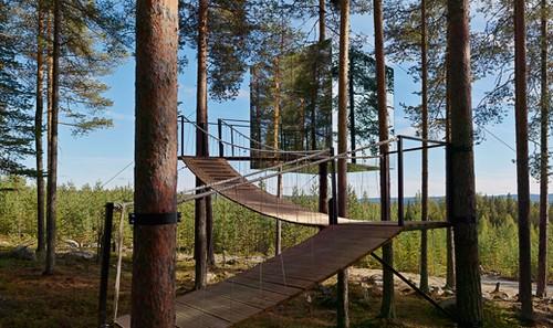 Tree Hotel – необычный отель на деревьях в глубине нетронутой природы