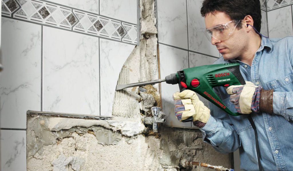 Демонтаж плитки-особенности работ