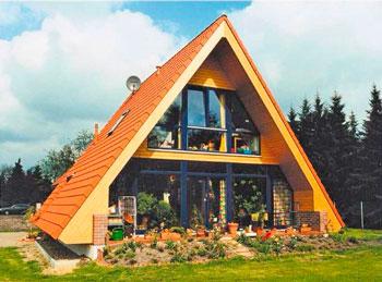 Дом-шалаш или дом-палатка из клееного бруса