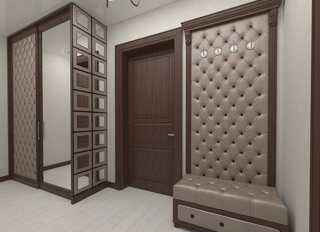 Как сочетать мягкие стеновые панели с интерьером прихожей?