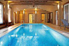 Дизайн бани с бассейном