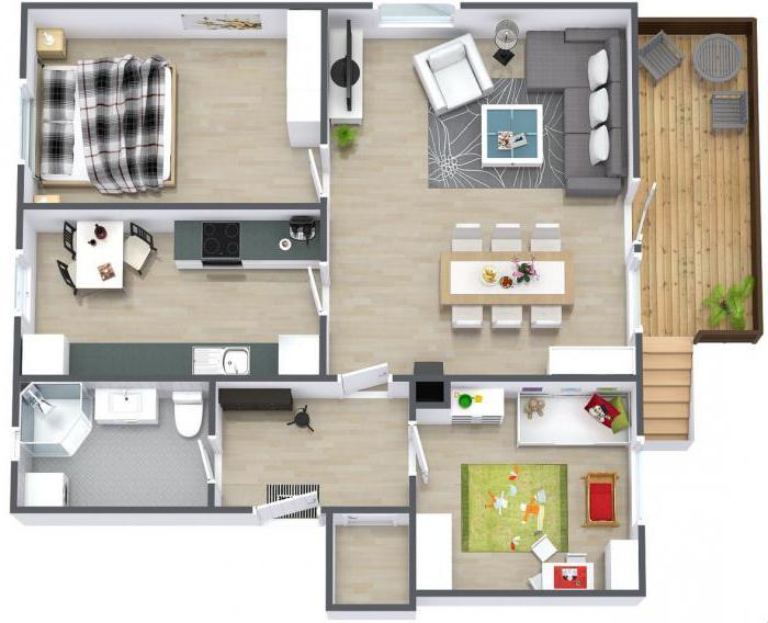 Варианты планировок трехкомнатной квартиры