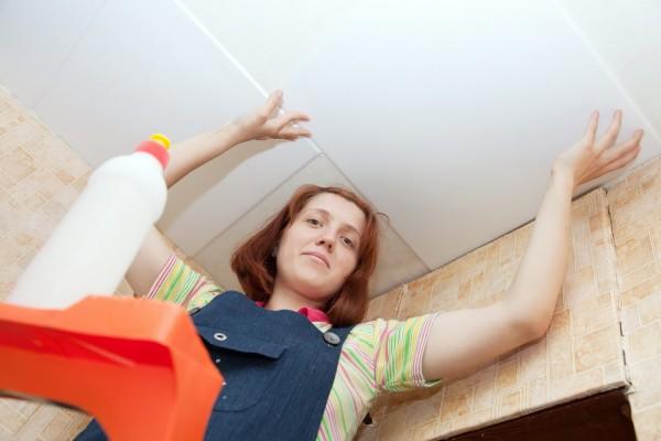 Как сделать клеевой потолок
