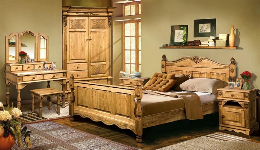 Мебель из сосны для загородного дома