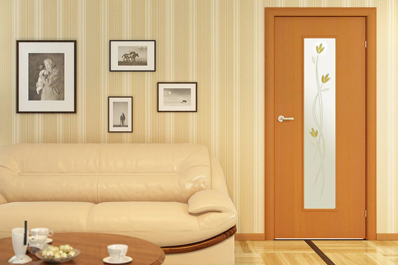 Двери с фьюзингом — изюминка интерьера