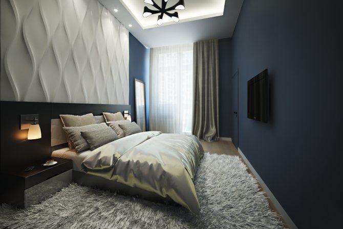 Разновидности 3D панелей в интерьере спальни