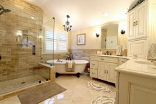 Оформление интерьера ванной комнаты для большой семьи