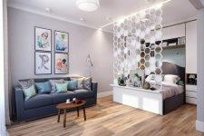 Перегородки для зонирования пространства в комнате: какие виды существуют